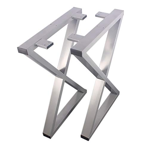 LING AI DA MAI Smeedijzeren tafelpoten - eenvoudig te installeren X-vormige metalen tafelpoten bank benen eettafel poten - voor koffie en salontafels, home DIY projecten (2)