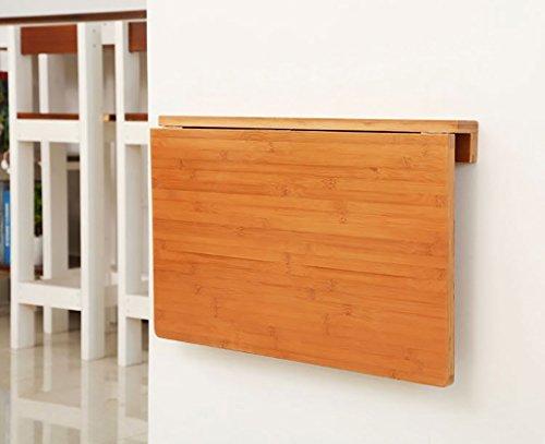 Happy Together Klapptisch Bambus Wand-Esstisch Lerntisch Computertisch Wandtisch Faltbare Tische (Farbe : Original Bamboo Color, größe : 60 * 40cm)