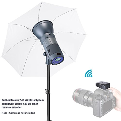 Neewer 300W Battery Powered Outdoor Studio Flash Strobe Lighting Kit:(1)VISION4 Monolight with 2.4G System,(1)Light Stand,(1)Rectangular Softbox,(1)White Umbrella for Location Portrait Photography