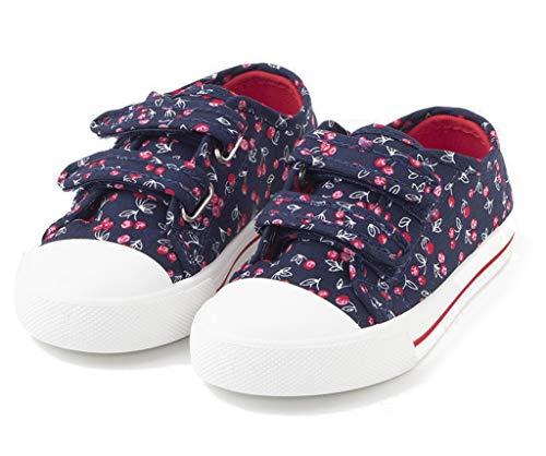 TEX - Zapatillas De Lona Estampadas para Niña, Azul Marino, 22 EU