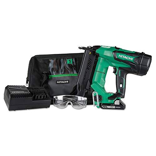 Hitachi NT1850DE 18V Cordless Brad Nailer, Brushless Motor, 18 Gauge, 5/8' to 2' Nails, Compact 3.0 Ah Lithium Ion Battery, Zero Ramp-Up Time, Lifetime Tool Warranty