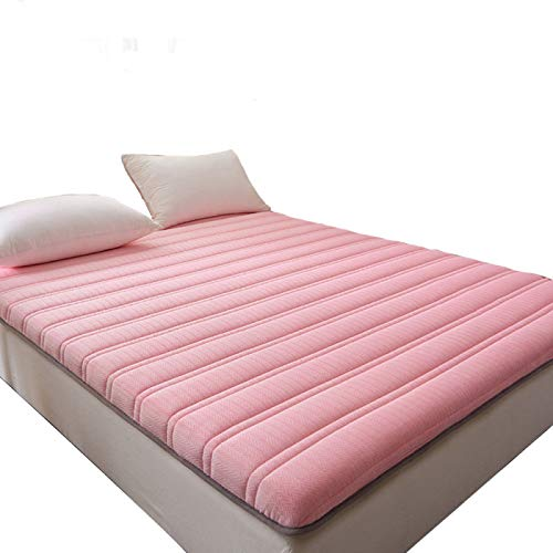 QXTT Futon Matratze Japanisch Futon Baumwollfuton Futonmatratze Dicke Bodenmatratze Tatami Gepolsterte Matratze Japanischen Boden Futon-matratze Futonbett Matratze Futon,Pink-120 * 200cm