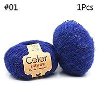編み糸、50gアンゴラ好色薄手モヘアウール糸ぬいぐるみ手編み用品