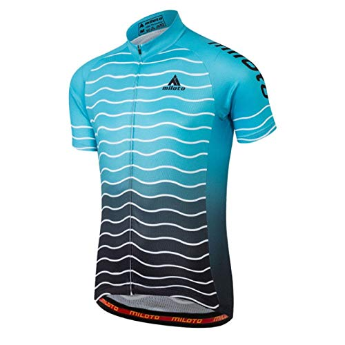 Maillot de ciclismo Jersey Tops verano Racing Ciclismo ropa manga corta bicicleta Jersey camisa (color: 7, tamaño: XXL)