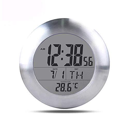 Winbang Orologio da Parete Digitale per Doccia da Bagno, Impermeabile per Spruzzi d'Acqua, Sveglia Digitale con sensore termometro, Calendario Mese Data Giorno, Supporto Ventosa per Appendere Foro