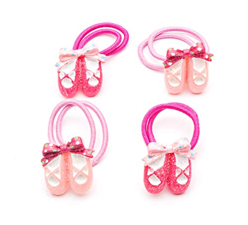 Katz Dancewear 4 Pack Of Girls Ballet Shoes Elastic Hair Bobbles Bands Gifts HA-05