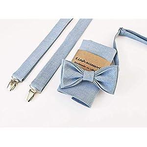 Blau Accessoires: Fliege, Hosenträger, Einstecktuch