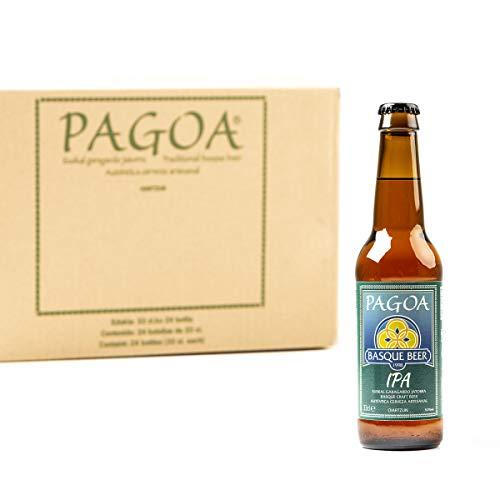 Pagoa - Cerveza Artesana - Pack de 12 Botellas x 33 cl – IPA Indian Pale con Extra de Lúpulo - Pioneros de la Cerveza Artesanal en España desde 1998 - Formato Ideal para Consumir en Casa
