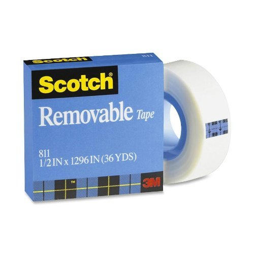 3 M Scotch Removable Klebeband, 0,5 x 36 Yards, 811 (t9631811)
