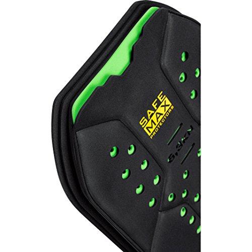 Safe Max® Motorrad Rückenprotektor Einsatz für Motorradjacke RP-Pro Rückenprotektor Einsatz, 5-lagig, Schutzklasse 2, Schichtbauweise, gelocht, atmungsaktiv, extrem leicht, flexibel, Schwarz, M - 3