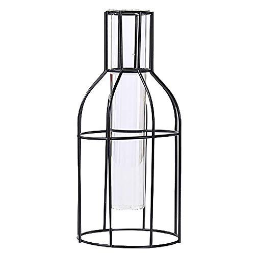 Zunbo Supporto in Metallo per Vaso Provette per Pianta, Vaso di Fiori Nordico per Pianta Idroponica, Decorazione per Giardino Casa Tavolo Ufficio (C)