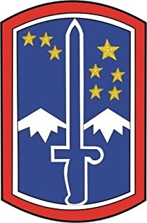 United States Army 172nd Infantry Brigade Patch Decal Sticker 3.8