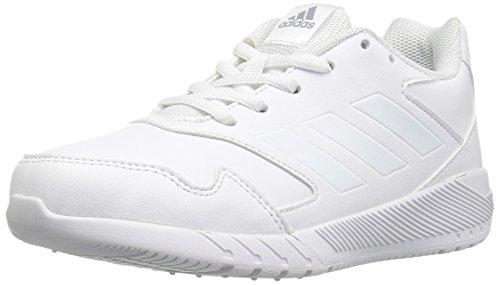 adidas Performance Boys' Altarun K Running Shoe, White/White/Mid Grey, 4 Medium US Little Kid