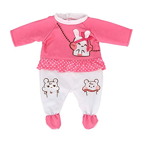 ZWOOS Ropa de Muñecas para New Born Baby Doll, Lindo Atuendo de Algodón para 18 ' Muñecas (40-45 cm)