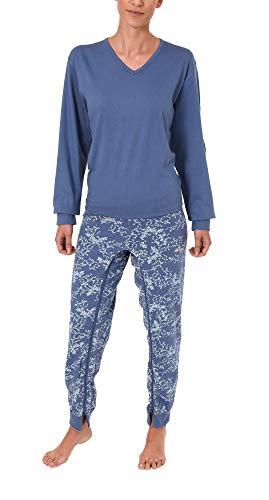Normann Care Damen Pflegeoverall Langarm mit Reissverschluss am Rücken und am Bein 58437, Größe:S;Farbe:blau