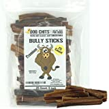 Dog Chits Bully Sticks | 25 Count Premium | 5 inch | Odorless | All Natural | Grass-Fed | Great for Dogs and Puppies | Long Lasting Chew | Fully Digestible | High Protein