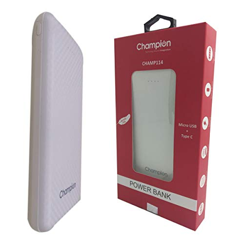 Champion Champ 114 10000mAh Power Bank (White)
