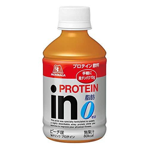 inドリンク プロテイン ピーチ味 (24本入×1箱) 1本280ml 高タンパク10g 脂肪ゼロ クエン酸配合 80kcal 常温...