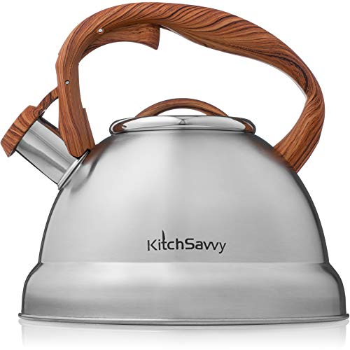 Tea Kettle For Stove Top – Stainless Steel Tea Kettle Stovetop - Whistling Tea Kettle With Stay Cool Handle…