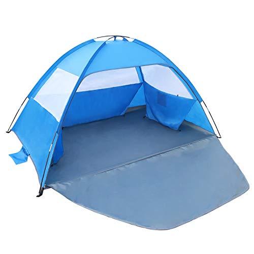 Gorich Beach Tent,UV Sun Shelter Lightweight Beach Sun Shade Canopy Cabana Beach Tents Fit 3-4 Person
