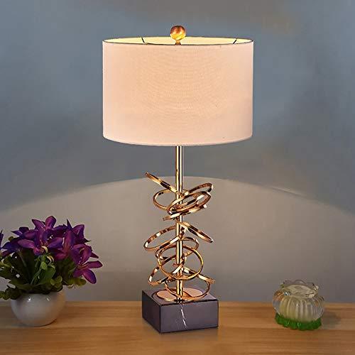 VIWIV Lámpara de Escritorio Lámpara Creativa Retro Lámpara de Mesa Sala de Estar Estudio clásico Dormitorio Mármol Lámpara de Mesa de Hierro Simple 38 * 80cm