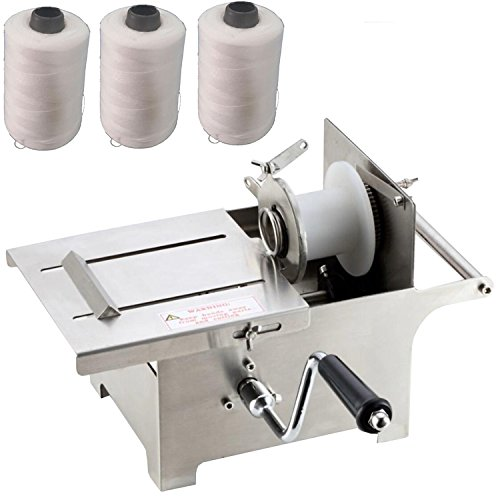 Generic 0-42mm Hand Rolling Salami Sausage Stuffer Sausage Tying Knotting Machine with 3pcs Twine