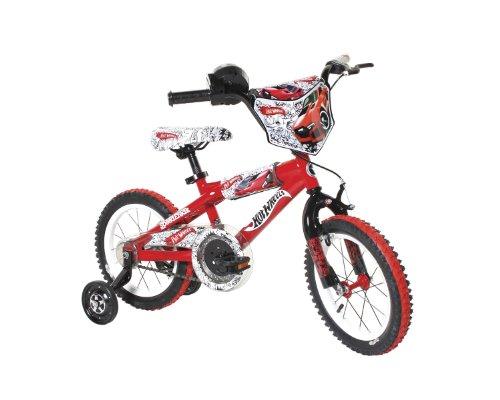 u0022Dynacraft Hot Wheels Boys BMX Street/Dirt Bike with Hand Brake 14u0022u0022, Red/White/Black u0022