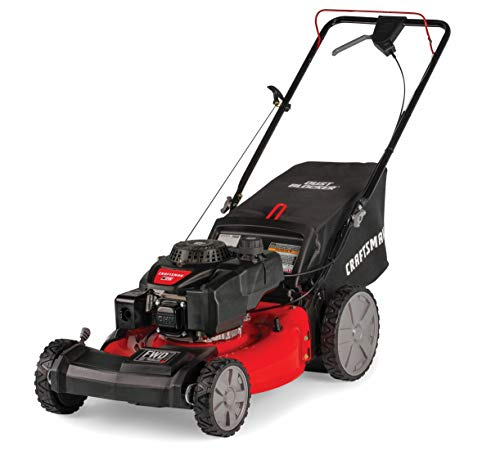 Craftsman M215 159cc 21-Inch 3-in-1 High-Wheeled FWD Self-Propelled Gas Powered Lawn Mower...