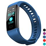 InnKoo Fitness Tracker Watch for Kids Women Men, Waterproof Activity Tracker with HR Heart Rate & Blood-Pressure Monitor, Pedometer Steps Calorie-Burn Counter Smart Wristband, Color Screen Y5