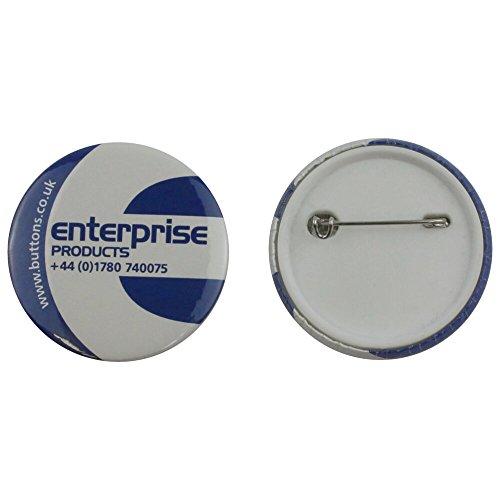 Enterprise Products - Zubehör für 250 Buttons mit Sicherheitsnadel - 45mm
