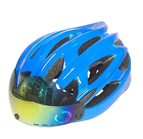 QMZDXH Fahrradhelm Bluetooth Smarthelm, Fahrradhelm Mit Abnehmbarer Schutzbrille, Professionelle Fahrradhelm für Berg Und Straße Männer (CE-Zertifikat)