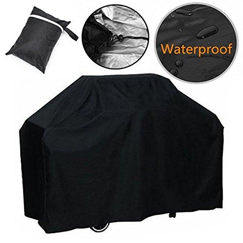 Da.Wa Couvercle de gril pour barbecue robuste, tissu résistant à l'eau en Oxford Housse de barbecue avec sac de rangement (150 × 100 × 125 cm)