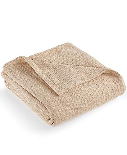 Ralph Lauren New Lauren Classic Cotton King Bed Blanket 108' x 90' (Taupe)