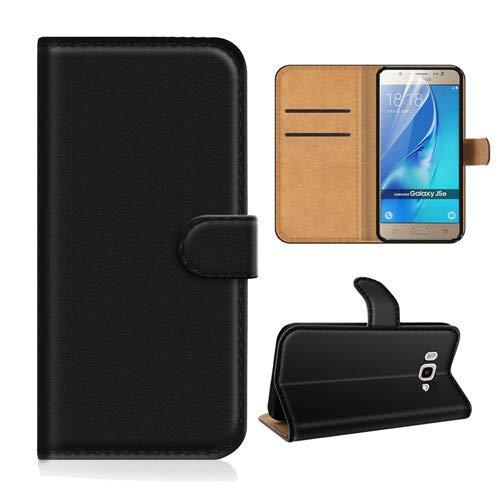betterfon | Buch Tasche Hülle Etui Book Hülle Cover Schutz Hülle Handy Tasche für Samsung Galaxy J5 2017 Schwarz