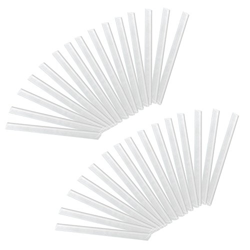 HENGMEI 30 Stück PVC sichtschutzstreifen transparent befestigungsclips Sichtschutz Klemmstreifen (30 Stück,Transparent)