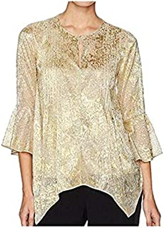 T TAHARI Mixed Neck Blouse For Women