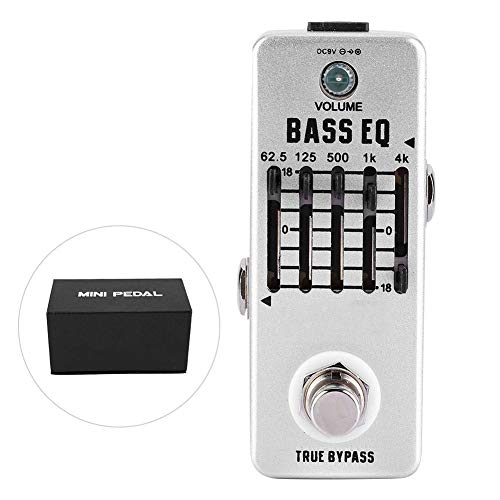 Bnineteenteam Rowin Bass Efecto de Ecualizador para Guitarra, 5 Bandas EQ gráfico...