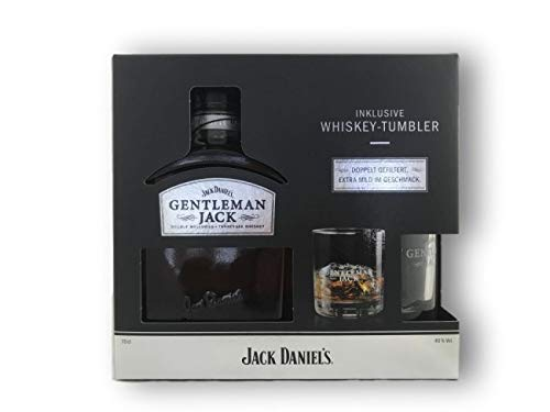 1 Geschenkbox Gentleman Jack a 0,7L inclusive Whisky Tumbler (40% Vol)