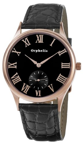 Orphelia OR22670344 - Orologio da polso uomo, pelle, colore: nero