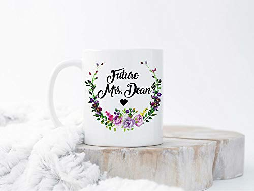 Taza de café de 325 ml, taza de té, taza de té personalizada, future Mrs, regalo de compromiso, regalo de futuro, regalo personalizado, taza de café, regalo para mujeres y hombres