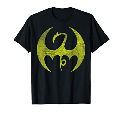 Marvel Iron Fist Distressed Dragon Logo Camiseta