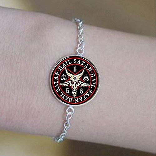 Wunderschönes Wicca-Pentagramm-Armband, umgekehrtes Pentagramm-Schmuck, Satanischer Okkult-Schmuck, Jugendstil, schöne Geschenke