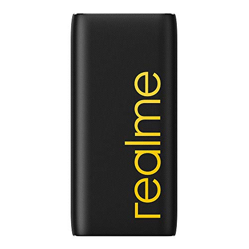 realme 20000 mAh Power Bank (Quick Charge 2.0, Power Delivery 2.0, 18 W) Black