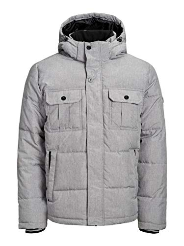 JACK & JONES Herren Jcowill Puffer Jacke, Grau (Light Grey Melange Light Grey Melange), Small (Herstellergröße: S)