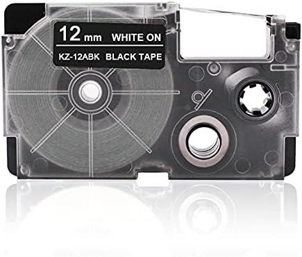 Labeltape Fesjoy 12 mm labeltape Compatibele tapecartridge Lintvervanging voor Casio KL60 KL100 KL170 KL120 KL180 KL780 KL820 KL7400 KL8700 KL8800 CWL300 EZ labelmaker