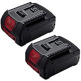 FUNMALL 2 X 18V 5.0Ah BAT610G Reemplazo Batería para Bosch BAT609 BAT618G BAT619 BAT621 BAT620 con Indicador LED Herramientas eléctricas