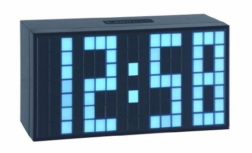 TFA Dostmann 98.1082.02 Time Block digitaler Wecker, mit LED-Leuchtziffern, drei Helligkeitstufen, 6 x 16 x 8,4 cm, schwarz, Kunststoff