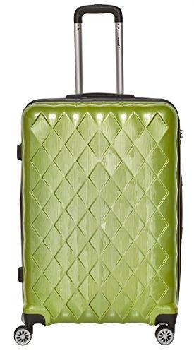 Packenger Koffer - Atlantic -  (XL), Grün 4 Zwillingsrollen, 133 Liter, 4,8Kg, 72cm, Koffer mit TSA-Schloss, Erweiterbarer Hartschalenkoffer (Polycarbonat) reißfester Trolley Reisekoffer, glänzend