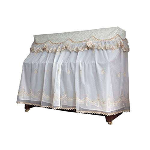 Best Buy! Piano cover Korean European Piano Full Cover Fabric Open Dust Cover Stool Cover (Color : B...