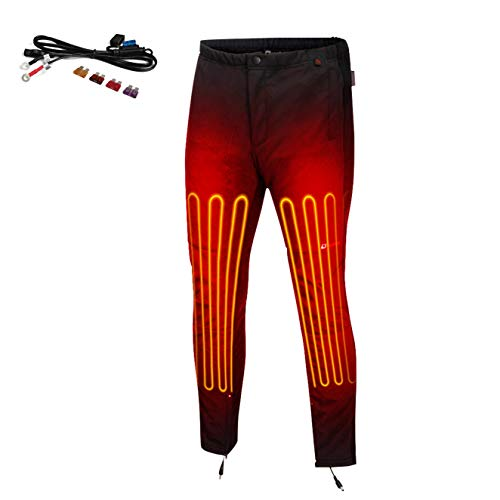 Venture Heat 12V Motorcycle Heated Pants Liner - Full Length Heating, Leg Warming Protective Gear (XL)